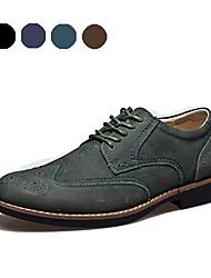 TBLS® Men's Cowhide Oxfords Black / Blue / Brown / Green-6236
