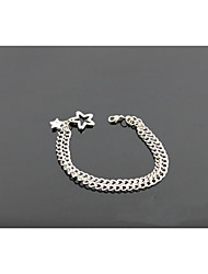 Chain Bracelets 1pc,Silver Bracelet Fashionable Circle  Gold Jewellery