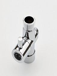 g7 / 8 (7/8 '') t-adaptador de cromo, latão núcleo de válvula de bronze sólido separador de água do chuveiro para bidé ou banho de