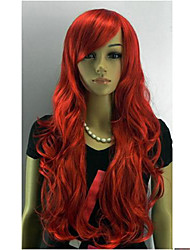 Capless Long Curly Red Oblique Women Synthesis Hair Full Wig