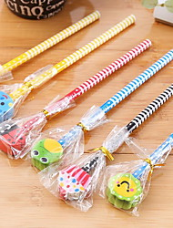 Cartoon Rubber Head HB Pencil Stationery