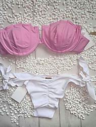 Womens Push Up Shell Shape Brazilian Bikini