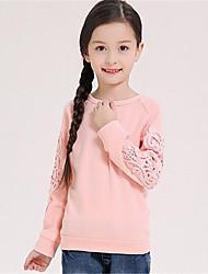 Mädchen T-Shirt-Lässig/Alltäglich einfarbig Baumwolle Frühling / Herbst Rosa / Lila / Grau