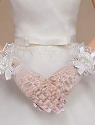 Wrist Length Fingertips / Fishnet Glove Lace / Polyester / Net Bridal Gloves / Party/ Evening Gloves