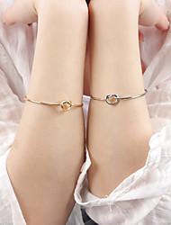 Feminino Bracelete Liga Moda Prata Dourado Jóias 1peça