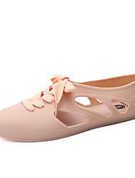 Women's Summer Gladiator PU Casual Flat Heel Others Black Blue Yellow Pink Beige Light Green