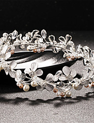 Women's / Flower Girl's Pearl / Alloy Headpiece-Wedding / Special Occasion Headbands 1 Piece White