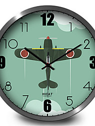 Cute Cartoon Plane Decoration Wall Clock