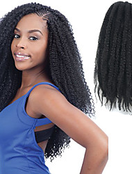 """Natürliche schwarze 17 """"kanekalon afro kinky Zöpfe Twist Havana lockige synthetische Haare Zöpfe 100g"""