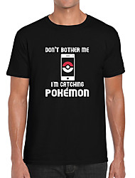 Inspired by Pocket Monster Little Monster Video Game Cosplay Costumes Cosplay T-shirt Geometric / Print Black Short Sleeve Top