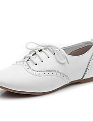 Women's Oxfords Spring Pointed Toe PU Casual Flat Heel Others White