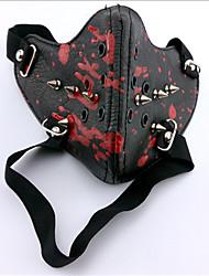 Maschera Ispirato da Tokyo Ghoul Ken Kaneki Anime Accessori Cosplay Maschera Nero Pelle Uomo