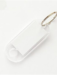Crystal Color Transparent Key Card Number Plate Car Key Ring Plastic Luggage Tag Cards Categories