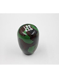 Manual And Automatic Wave Head Camouflage Gear Shift Knob Aluminum Gear Head