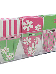 Decorated Clip Tabs / Pin / Labels Cute / Business / Multifunction,Paper / Chrysanthemum Pink Green