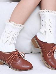 Women Medium Stockings,Acrylic / Lace