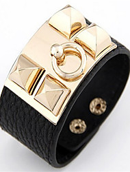 Europe Wide Leather Rivet Bracelet