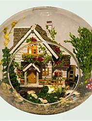 Diy handmade cabin Norway  tree house assembled model