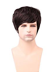 beau gent coiffure courte ligne droite cheveux 100%