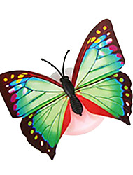 Random Color 5pcs/Pack Butterfly Sucker Night Light