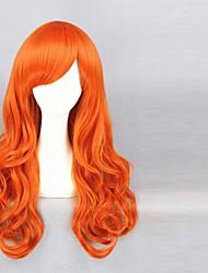 65cm une pièce-nami (deux années plus tard) perruques orange, boucle de cosplay