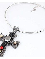 Vinatge  Cross Necklace Fashion Crose Pendant Necklace Men Women Jewelry