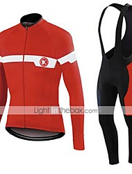 KEIYUEM®Spring/Summer/Autumn Long Sleeve Cycling Jersey+long Bib Tights Ropa Ciclismo Cycling Clothing Suits #L42