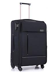 Unisex Oxford Cloth Outdoor Luggage Black