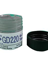 cmpick gd220 peso cinzenta 20 gramas de pasta térmica cano
