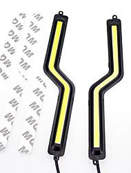 2pcs 2x7w белый цвет света водить Z styledaytime ходовые огни г форма початка DRL
