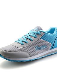 Женская обувь PU / тюль плоский каблук комфорт / круглый кроссовки носок моды спортивные / вскользь синий / розовый / фуксия