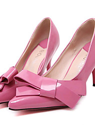 Women's Shoes Leatherette Spring / Summer / Fall Heels Heels Wedding / Party & Evening / Dress Stiletto Heel Bowknot