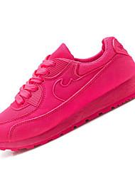 Da donna-Sneakers-Casual-Comoda-Piatto-Felpato-Verde / Fucsia