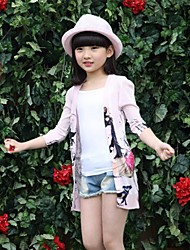Girl's Casual/Daily Print Sweater & Cardigan,Rayon Spring / Fall Pink / White