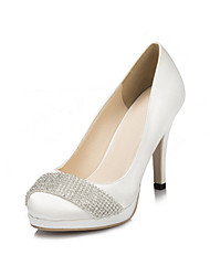 Women's Heels Spring / Summer / Fall / Winter Heels / Platform Satin Wedding / Party & Evening / Dress Stiletto Heel RhinestoneIvory /