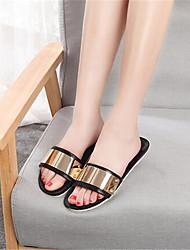 Women's Summer Comfort / Open Toe Leatherette Outdoor Platform Black / Gold