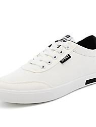 Herren-Flache Schuhe-Sportlich-Leinwand-Flacher Absatz-Komfort-Blau Weiß