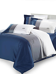4PC Duvet Cover Full Cotton Simple Style