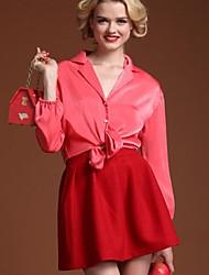 Pour My Fair Lady® Femme Col de Chemise Manche Longues Au dessus des genoux Robes-1204009