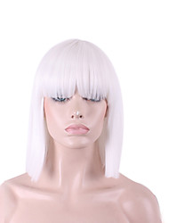 Best-selling Europe And The United States COS Wig White Neat Bang BOBO Wig 12 Inch