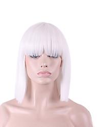 más vendido de Europa y los Estados Unidos peluca peluca blanca explosión aseada bobo 12 pulgadas