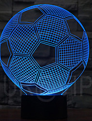 5V 0.5W 3D Illusion Led Night Lamp With Football Shape With 7 Color Light