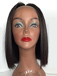 Short Bob Straight Natural Black Color Lace Front Wigs High Quality Heat Resistant Synthetic Wigs For Women