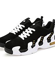 Sapatos Masculinos-Rasos-Branco / Preto e Vermelho / Preto e Branco-Tule / Couro Ecológico-Ar-Livre / Casual