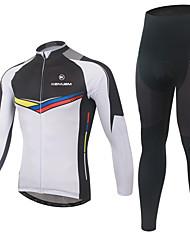 KEIYUEM Maillot et Cuissard Long de Cyclisme Femme Unisexe Manches Courtes Vélo Hauts/Tops Etanche Séchage rapide Design Anatomique Zip