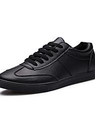 Femme-Bureau & Travail / Décontracté / Soirée & Evénement-Noir / Blanc-Talon Plat-Styles / Bout Arrondi-Sneakers-Polyuréthane