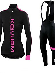 KEIYUEM®Spring/Summer/Autumn Long Sleeve Cycling Jersey+long Bib Tights Ropa Ciclismo Cycling Clothing Suits #L53