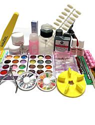 46 Sets Nail Kit Nail Art Decoration Accessories Nail DIY Nail Polish Kit