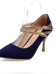 Zapatos de mujer - Tacón Stiletto - Tacones - Tacones - Exterior / Oficina y Trabajo / Casual - Semicuero - Negro / Azul / Rojo