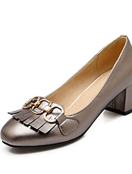 Women's Shoes  square  thick with the daily work of the four seasons comfortable high-heeled shoes tassels